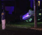 Police Chase of Suspected Burglar Ends in Crash on Front Lawn in New Jersey